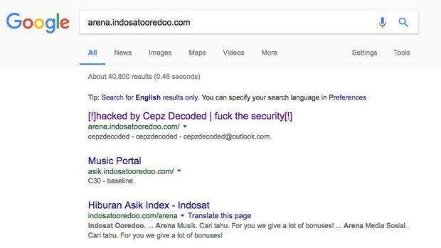 Situs Indosat Ooredoo Yang Diretas Dikelola Pihak Kedua