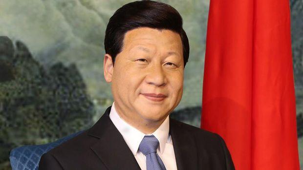 Patung lilin Presiden Republik Rakyat China Xi Jinping (Madame Tussauds)