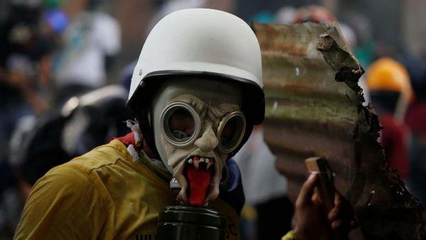 200 Ribu Demonstran Kembali Turun di Jalan Venezuela