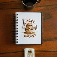 Lugu Gumilar menciptakan karya seni dari endapan dan ampas kopi.