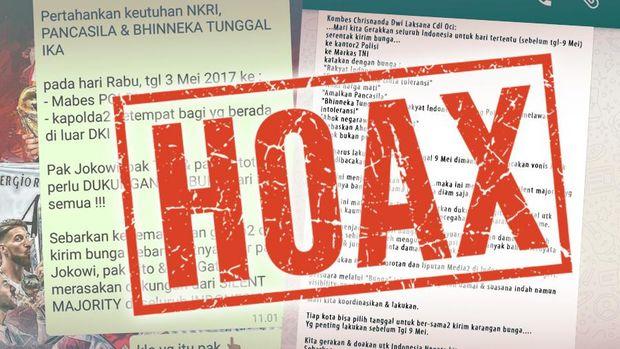 Brodcast Hoax Polisi Minta Karangan Bunga Dikirim ke Mabes Polri