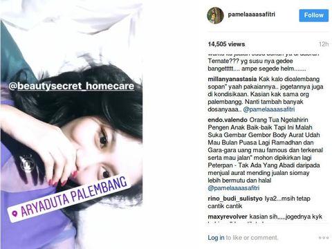 Kini Posting Apapun Pamela Safitri 'Diserang' Komentar Soal Baju Melorot