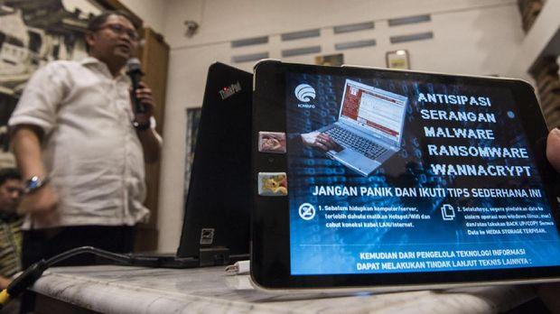 Ransomware WannaCry sempat menyerang berbagai negara di seluruh dunia, termasuk Indonesia.