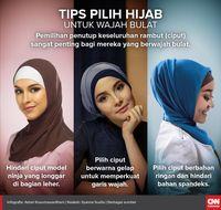 Delapan Tips Memilih Hijab Untuk Wajah Bulat