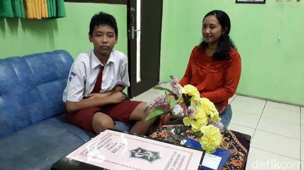 Pelajar SD di Surabaya ini Punya Nama Alhamdulillah Lanang Anakku