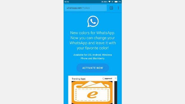 Waspada! Modus Penipuan WhatsApp dengan Warna Baru