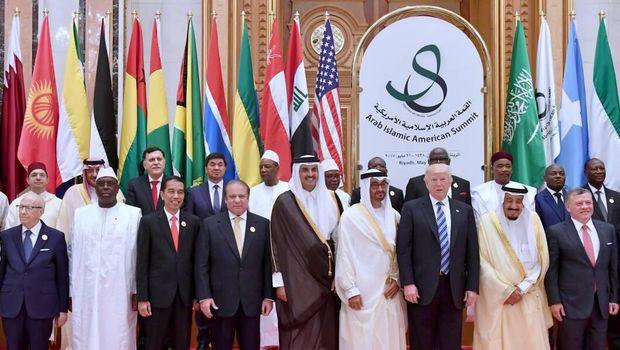 Pimpinan negara peserta KTT Arab Islam Amerika