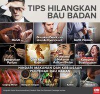 Delapan Tips Praktis Atasi Bau Badan