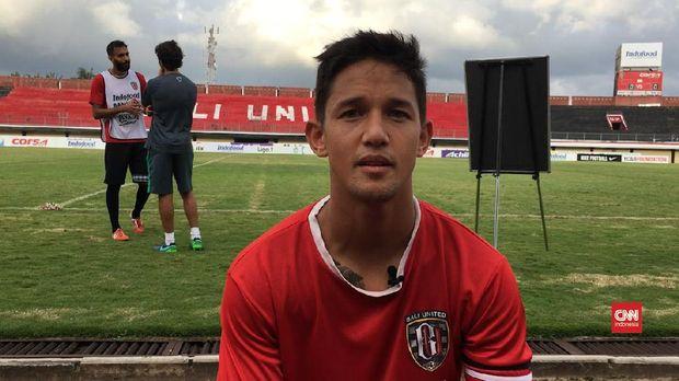 Irfan Bachdim sudah memperkuat Bali United sejak awal 2017.