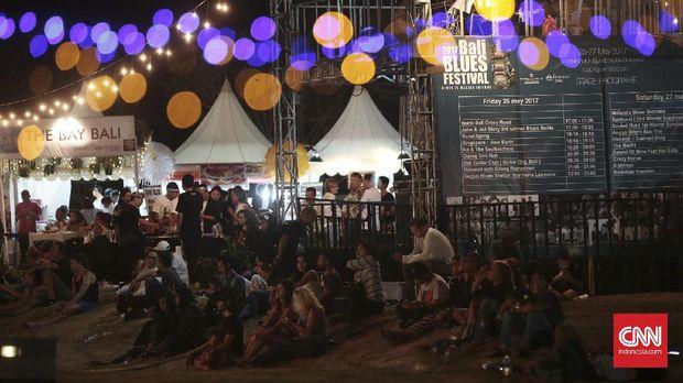 Suasana Bali Blues Festival di hari pertama.