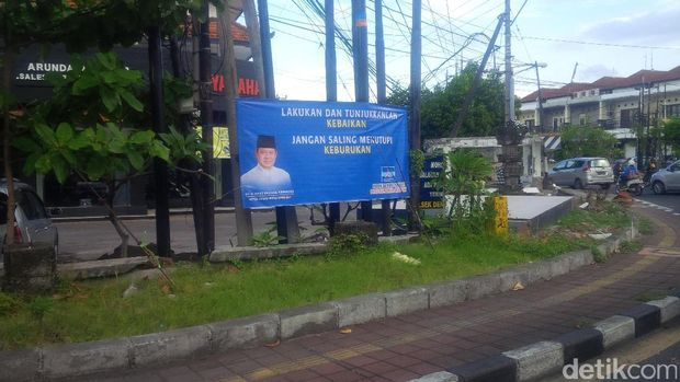 Spanduk SBY di Denpasar, Bali /
