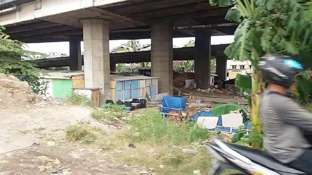 Rumah bedeng mulai tumbuh subur di bawah tol di Kalijodo. Padahal, petugas sudah berulang kali menggusurnya.