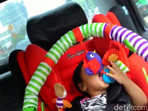 Ilustrasi cegah anak mabuk perjalanan saat mudik
