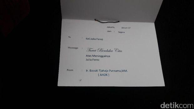 Memo yang berisi nama pengirim yakni 'Ir. Basuki Tjahaja Purnama,MM (Ahok)'.