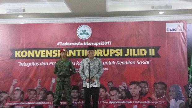 Ketua KPK Agus Rahardjo di kantor PP Muhammadiyah Jakpus