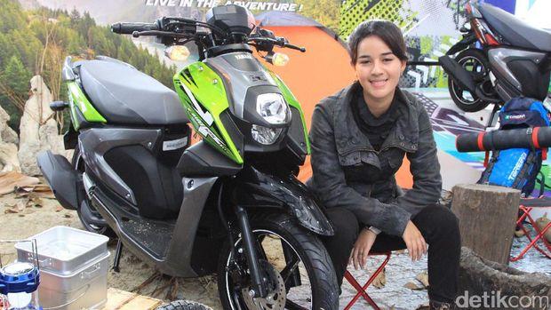 Sabrina Sameh saat ditemui di peluncuran motor Yamaha X-Ride