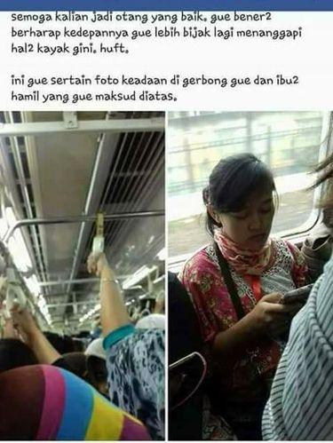 Curhat Kursinya Direbut Ibu Hamil di KRL, Wanita Ini Dikecam Netizen