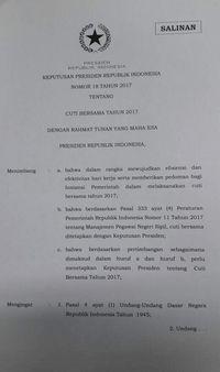 Resmi! Jokowi Tetapkan 23 Juni Jadi Cuti Bersama Lebaran