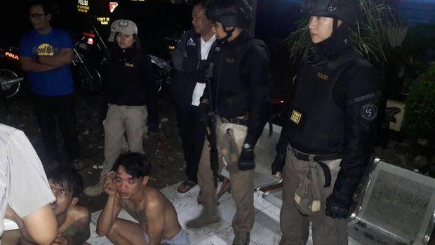 Tim Tiger tangkap penodong penjaga toko di Cilincing, Jakut (Dok. Humas Polres Jakut)