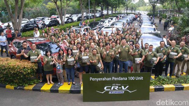 100 Unit Honda All New Honda CR-V Resmi Dikirim ke Konsumen