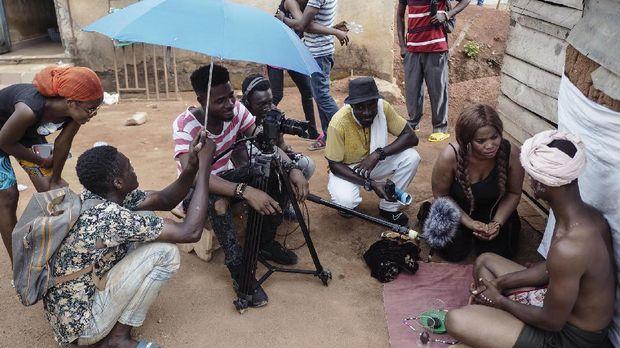 Industri perfilman di Ghana menggeliat di Kumawood.