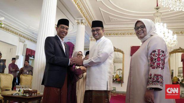 AHY dan Anies-Sandi Halabihalal Bareng Jokowi di Istana