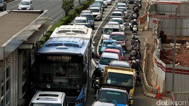 Kemacetan di Ibu Kota Jakarta.