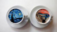 Lukisan Van Gogh Ditampilkan Dalam 'CreamArt' oleh Barista Korea Selatan Ini