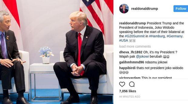 Postingan Trump di Instagram.