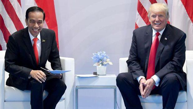 Pertemuan Jokowi dan Trump.