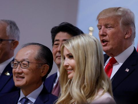 Ivanka dan Donald Trump di KTT G20 Jerman.