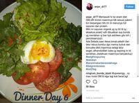 Salah satu menu diet yang pernah diposting Anjar di Instagram dengan hashtag #PejuangDiet