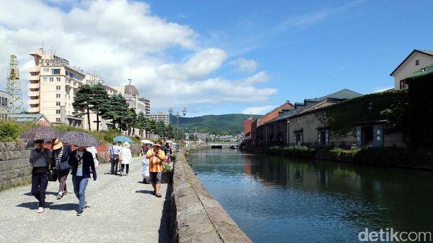 Bagi orang Jepang, Kanal Otaru dikenal sebagai tempat romantis (Baban/detikTravel)