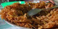 Telur dadar garing a la Minang.