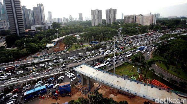 Kondisi kemacetan di Jakarta