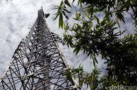 Salah satu BTS Telkomsel di Entikong