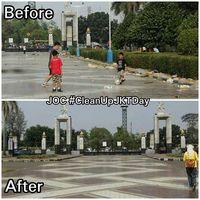 Area Gelora Bung Karno yang menjadi titik aksi (Clean Up Jakarta Day)