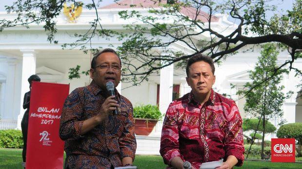 Menteri Sekretaris Negara Pratikno dan Kepala Bekraf Triawan Munaf mengungkapkan acara kemerdekaan RI akan dimeriahkan artis Korea dan Indonesia.