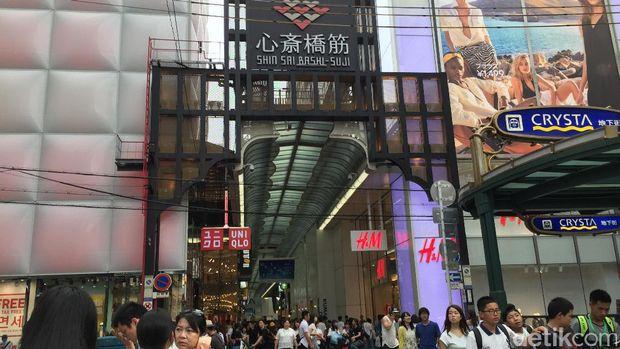 Inilah Shinsaibashi, surga belanja di Osaka (Dadan/detikTravel)