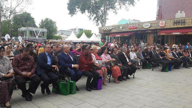 Suasana saat pembukaan festival Indonesia ke-2 di Moskow