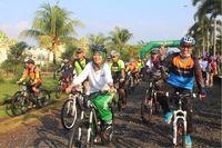 Bupati Lampung Timur Lepas Peserta Gowes Pesona Nusantara 2017