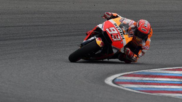 Marc Marquez tampil luar biasa di babak kualifikasi GP Austria.