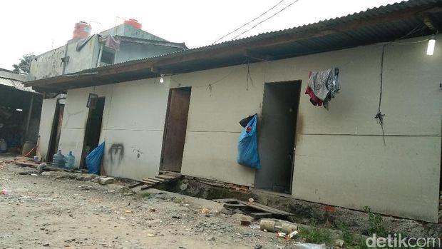 Pabrik garam di Tangerang yang digerebek polisi.