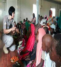 IPTU Wastini memberikan pengarahan tentang pendidikan anak kepada masyarakat wanita Sudan