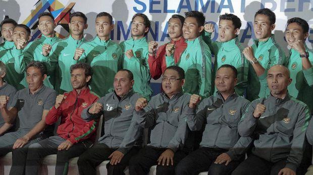 Pelepasan Timnas Indonesia U-22 ke SEA Games 2017.