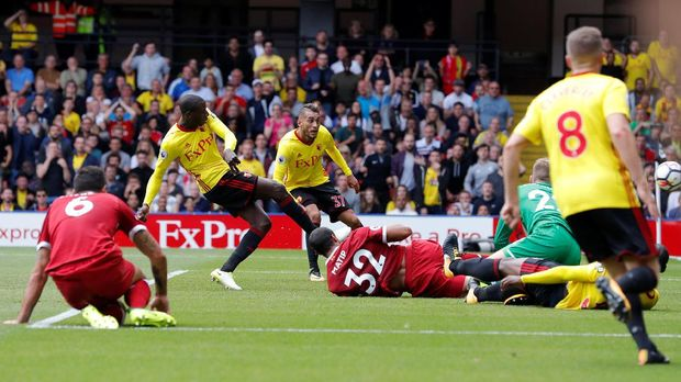 Watford dua kali unggul atas Liverpool di pertandingan ini.