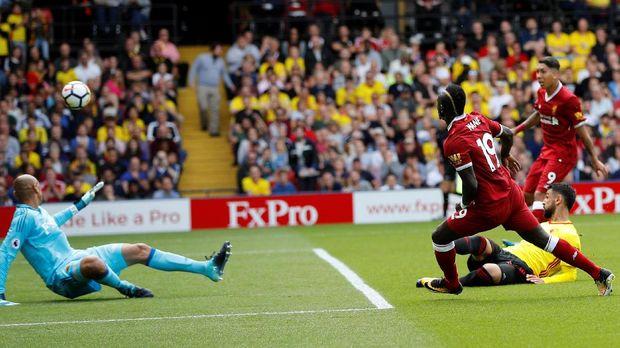 Sadio Mane sempat menyamakan kedudukan untuk Liverpool.