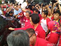 Darmin Nasution dan Sri Mulyani saat Meresmikan Banteng Wulung