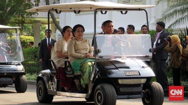 SBY, Mega, dan Habibie Kompak Hadiri HUT RI di Istana
