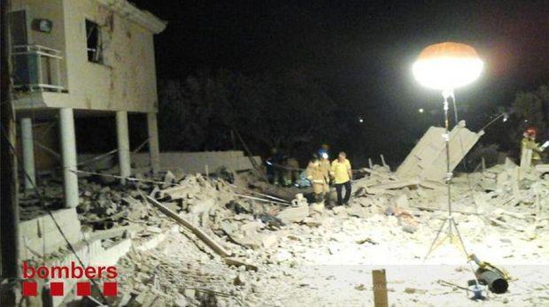 Rumah yang menjadi 'pabrik bom' di Alcanar tinggal puing